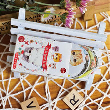 цена 40pcs/pack Into The Round Roll Afu Cats Cute Little Box Stickers For Decoration Diary Scrapbooking