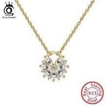 цена ORSA JEWELS 45cm Chain Silver Pendant Necklace 925 Sterling Silver Choker Statement Necklace Women Silver 925 Jewelry SN232 онлайн в 2017 году