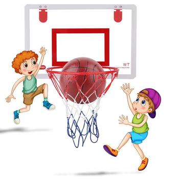 Kids Children Adults Portable Funny Mini Basketball Hoop Toys Kit Indoor Home Basketball Fans Punch Free Toy Rebounds Wall Hangi