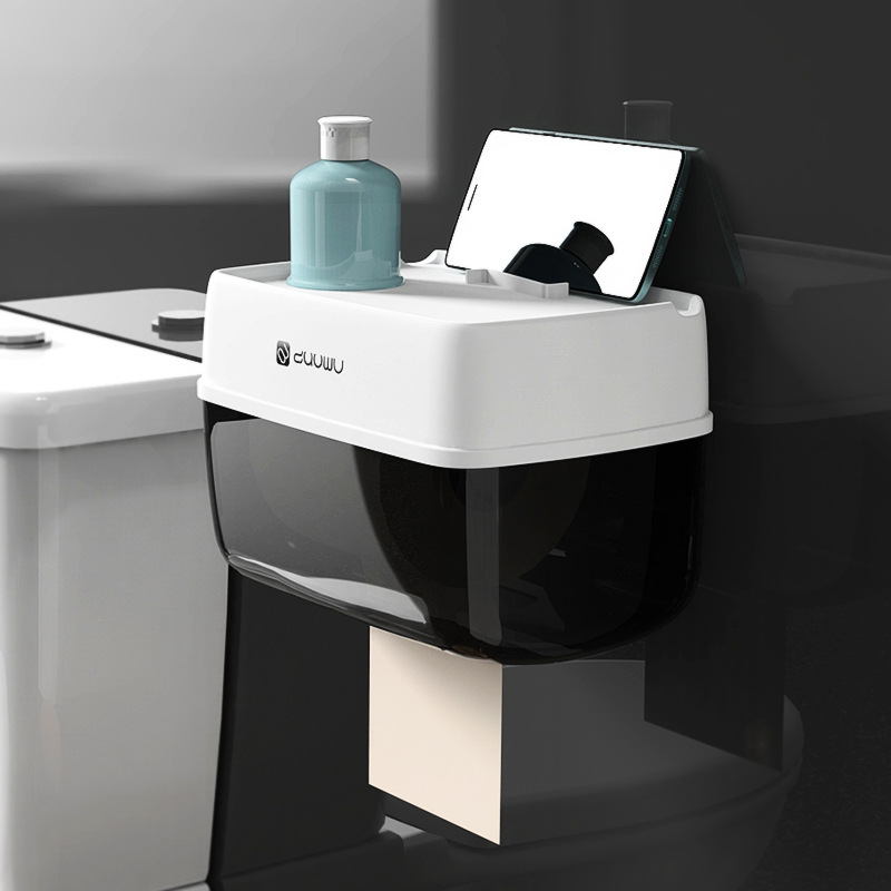 ห้องน้ำ ROLL ผู้ถือกระดาษพลาสติกห้องน้ำ WC กระดาษผู้ถือเก็บชั้นวางกระดาษกล่อง