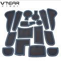 Vtear для hyundai Solaris хундай солярис хёндай солярис Противоскользящий коврик, дверной паз, противоскользящий слот для ворот, Накладка для интерьера, аксессуары для автомобиля 2011 2013 2015 2016 - фото