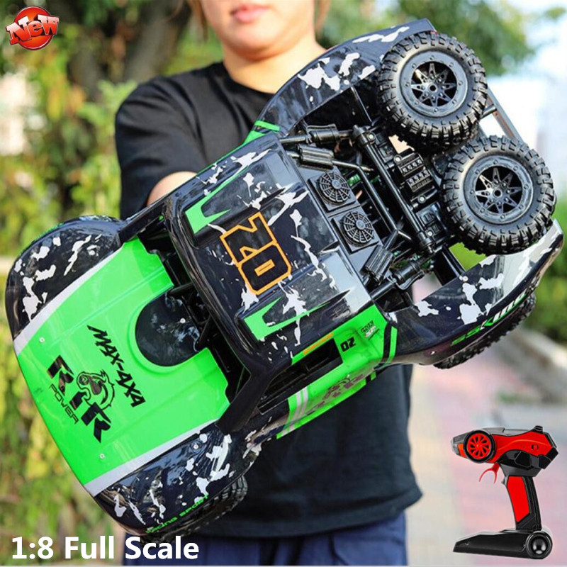 Big Foot Waterproof Off-Road Remote Control Car 2.4G 1:8 Full Scale 50CM 4WD Driving High Speed Amphibian Electric RC Car Model image