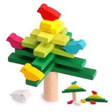 Building-Blocks Wooden Creative-Toys Interconnecting Education Balanced Bird Early-Childhood