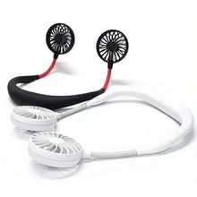 Hands-free Neck Band Hands-Free Hanging USB Rechargeable Dual Fan Mini Air Cooler Summer Portable X6HB