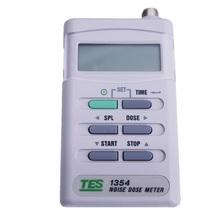 TES-1354 miernik dawki hałasu zawód zdrowia aplikacji pomiar hałasu dawka czas ekspozycji poziom dźwięku Blokada bezpieczeństwa tanie tanio 30 ~ 130dB