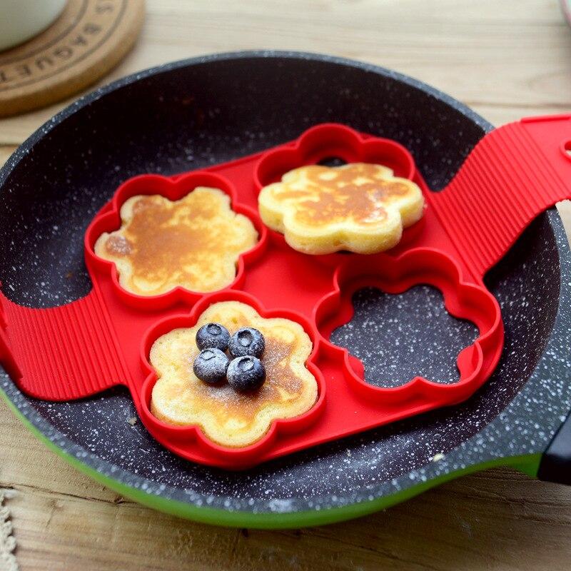 Жареное яйцо формы для блинов плесень силиконовые формы антипригарные Простые операции блинов форма для омлета кухонные принадлежности Принадлежности для выпечки    АлиЭкспресс - форма для выпечки