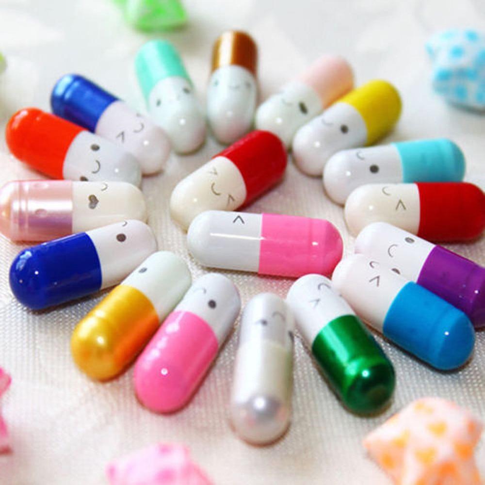 50pcs/lot Creative Love Pills Gift Rolls Pills Lucky Wishing Bottle Capsule Love Letter Stationery Paper Envelopes Gift