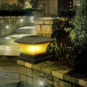 Image 4 - שמש LED עמוד אור חיצוני הודעה מנורת ABS חיובי לבן/חם אור NiMH 1.2V עמיד למים גדר אורות עבור גן חצר