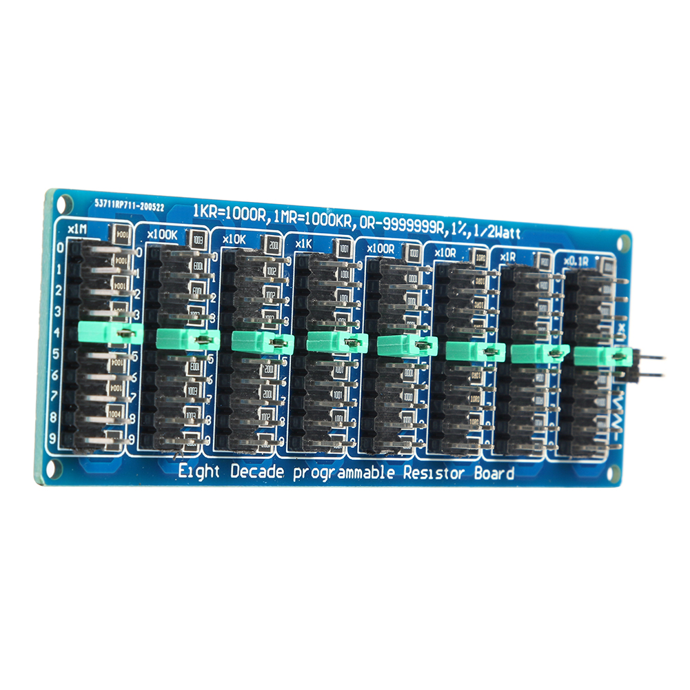7 Decade Resistor Board 1R-9999999R//1R Programmable Resistance SMD Module