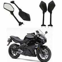 Espelhos retrovisores laterais da motocicleta espelho para kawasaki ninja 650r er6f ER-6F 2009-2016 400r 2010-2014 ninja 1000 z1000sx 11-14