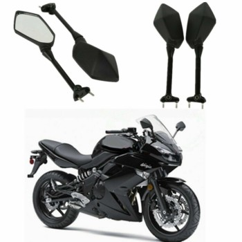 цена на Motorcycle Side Rear View Mirrors For Kawasaki NINJA 650R ER6F ER-6F 2009-2016 400R 2010-2014 NINJA 1000 Z1000SX 2011-2014