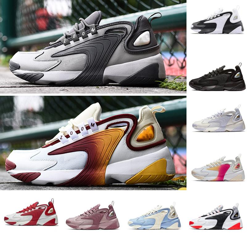 Newest Zoom 2K Men LifestyleWhite Black Blue ZM 2000 90s style Trainer Designer Outdoor Sneakers M2K Comfortable  Causal Shoes