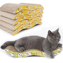 Large Size Corrugated Paper Cats Scratch Board For Kitten Grinding Nails Interactive Protect Furniture Wear-Resisting Cats Toy