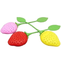 Red / Pink / Yellow Random Strawberry Silicone Tea Infusion Tea Filter Tea Set Accessories Drinking Utensils Supplies 20Pcs|Teaware Sets| |  -