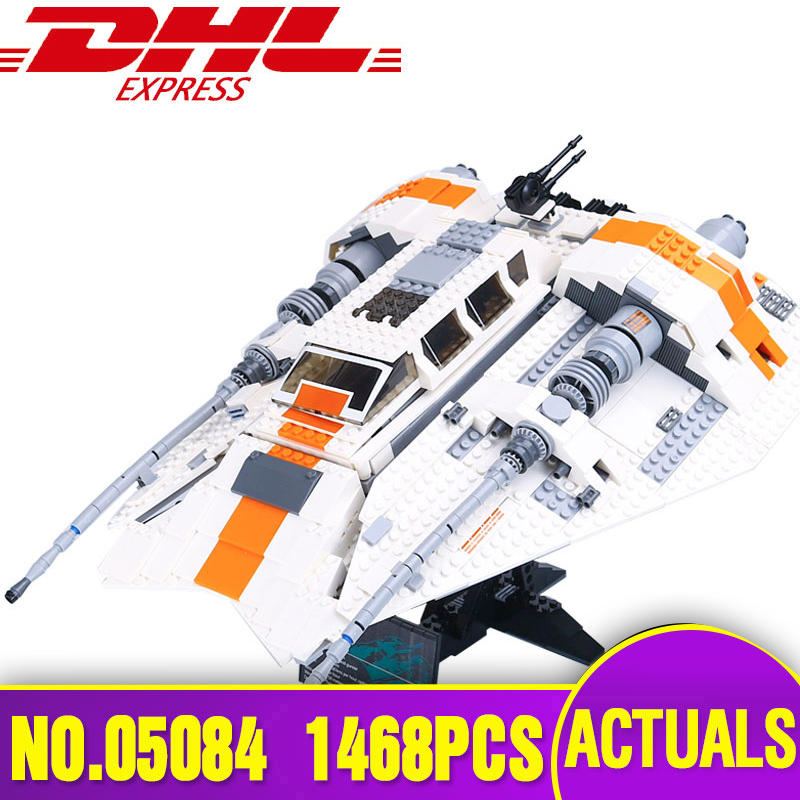 05084 Star Toys Wars Compatible With Legoing 10129 Snowspeeder Set Building Blocks Bricks Educational Kids Christmas Toys Gifts
