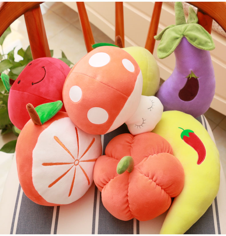 Fruit Doll Strawberry Oranges Plush Toys Gift Baby Children's Dolls Realistic Plush Toys