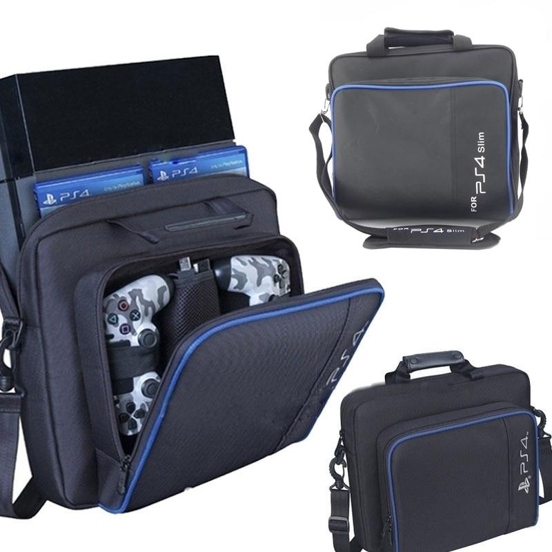 For PS4 PS4 Slim Game Consoles Accessories Shoulder Bag Carry Travel Case Shockproof Portable Storage Bag