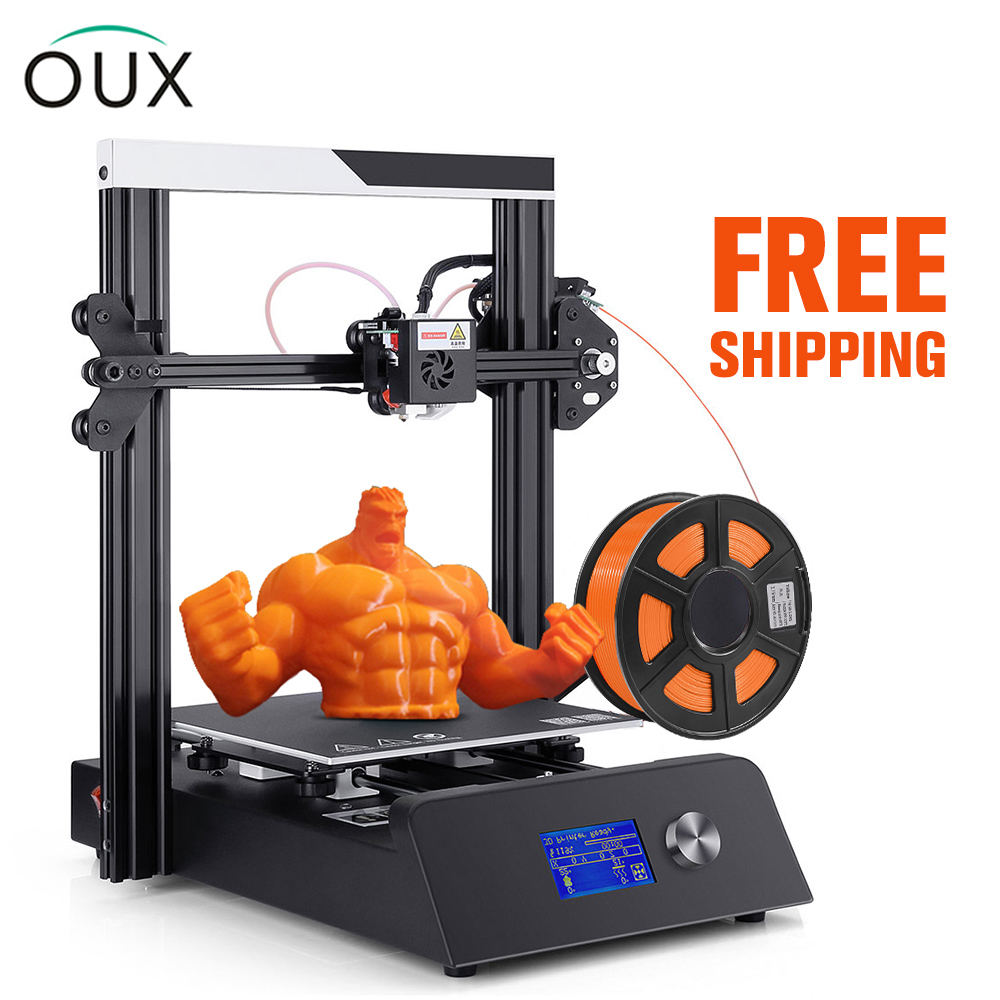 OUX 3D Printer High Accuracy Diy-Kit Power off Resume Printing Large Size Fast Assembly Cheap Impresora 3d