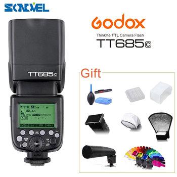 Godox TT685C N S O F Flash lampa błyskowa TTL speedlite wysokiej prędkości 1 8000 s GN60 Hot Shoe do Canon Nikon Sony Olympus Fujifilm DSLR tanie i dobre opinie CN (pochodzenie) NONE 0 5KG 64*76*190mm AA battery 5600K XENON