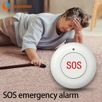 Home Security Alarm System Smart Wireless SOS Emergency Panic Button for Solar Powered Outdoor Siren недорого