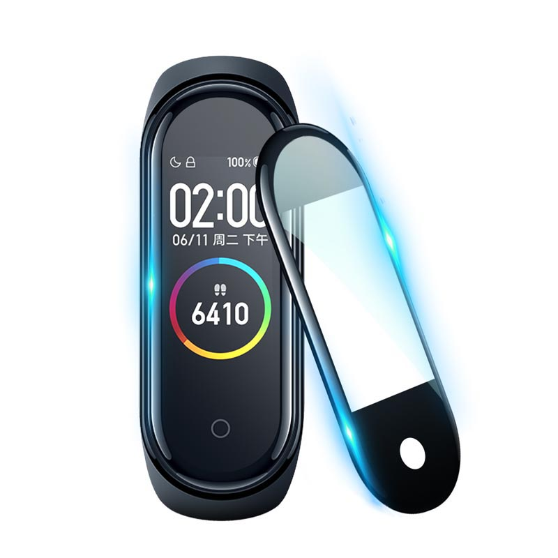 Protective Film For XiaoMi Mi Band 4 NFC Smart Protector Mi Band 4 Glass (Non-Tempered Glass) Explosion-proof/scratch Prevention