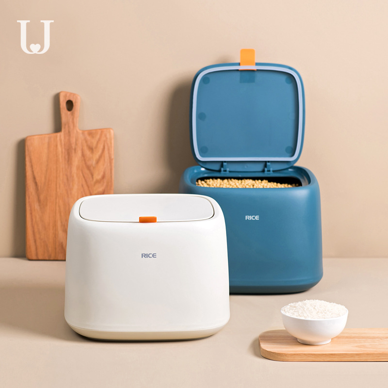Youpin Jordan&Judy Kitchen Household Rice Box Moisture-proof And Insect-proof Sealed Rice Storage Box 10kg Rice Storage Box