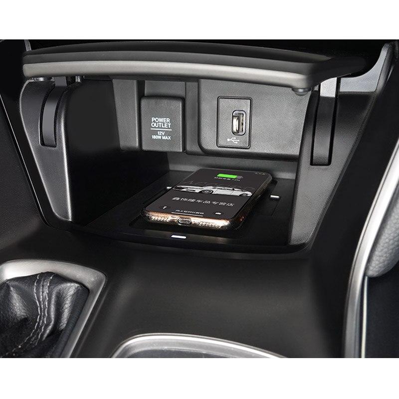 Pour honda accord 10th 2018 2019 voiture Mobile caché carte de charge rapide sans fil charge accoudoir Central boîte de rangement - 5