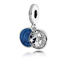 CodeMonkey 100% Real 925 Sterling Silver Classic Starry sky pendant Fit Original Pandoras Bracelet Beads DIY Jewelry For Women
