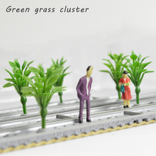 5cm ABS Plastic Model Plant Grass Toys 100pcs Miniature Shurb For Architecture Diorama Sandtable Wargame Scenery Making Kits