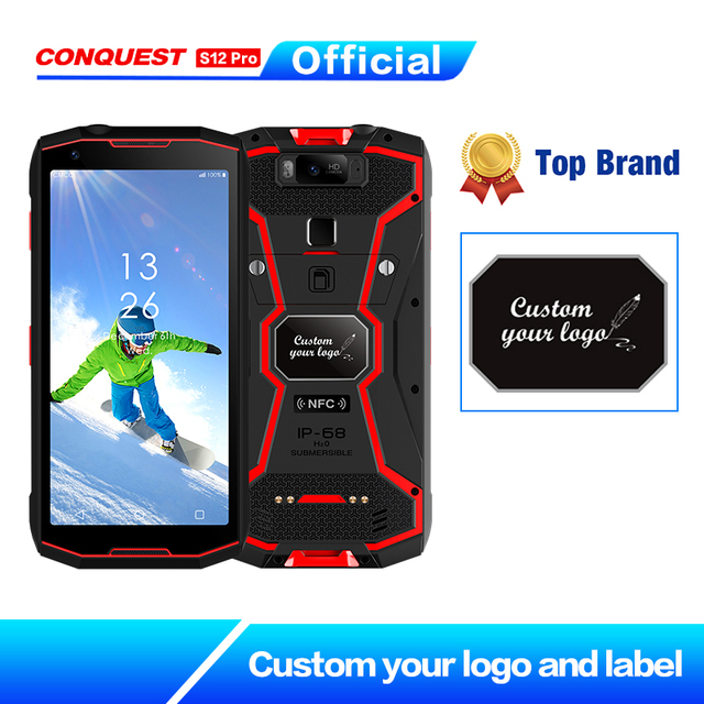 """DMR Walkie Talkie CONQUEST S12 Pro Outdoor Rugged Smartphone  IP68 Waterproof 6.0"""" FHD NFC  Outdoor Smartphone Cell Phone"""
