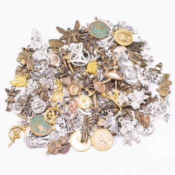 50g 100g Mixed Charms Pendants Human Character for Bracelets Necklaces Anklet DIY Accessories for Wholesale Craft Jewelry Making 10pcs tree branch leaf metal charms pendants brooch necklaces bracelets charms findings diy for jewelry making craft wholesale