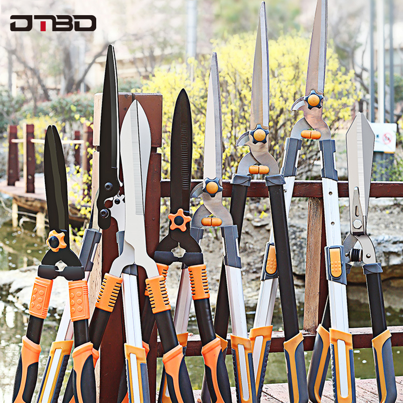 Garden Tree Pruning Shears Anvil Bypass Razor Edge Lopper Telescoping Long Reach Aluminium Handle Fruit Knife Picker Pruner