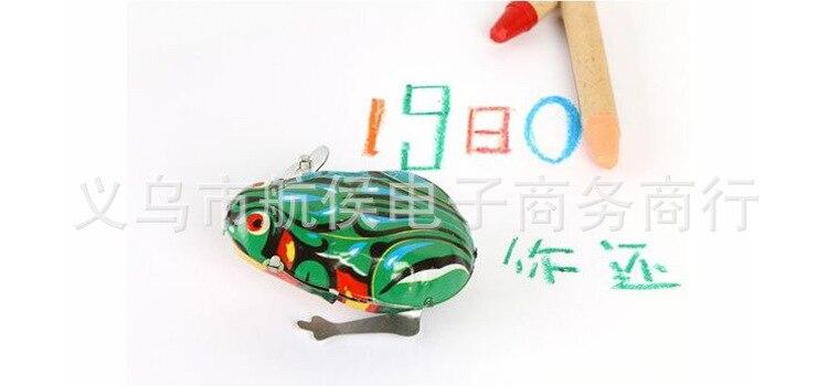 Winding Leap Frog Toy Algam Frog Nostalgic Classic Wind-up Toy Stall Hot Selling