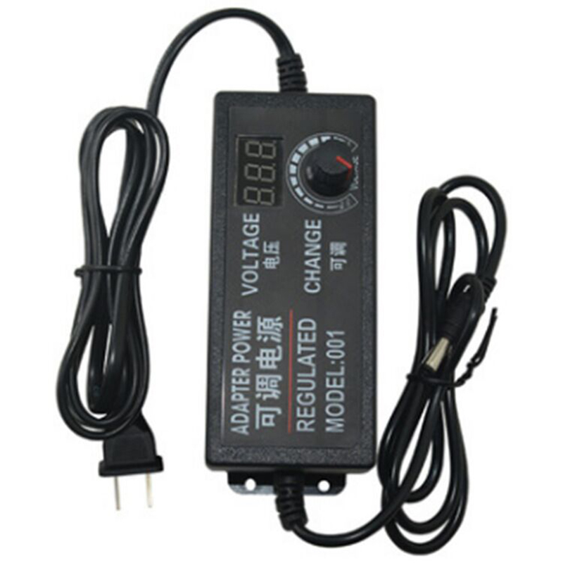 Adjustable Voltage Regulated Power Supply <font><b>Adaptor</b></font> Universal Adapter with Display Screen <font><b>AC</b></font> to DC 3V-12V 3V-<font><b>24V</b></font> 9V-<font><b>24V</b></font> image