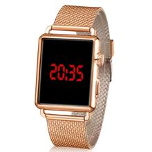 Men Fashion Waterproof LED Round Touch Screen Day Date Silicone Wrist W
