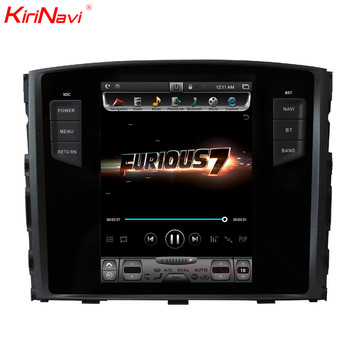 KiriNavi Vertical Screen Tesla Style Android 7.1 Touch Screen Car Multimedia For Mitsubishi Pajero Radio GPS Navigation 07-2015