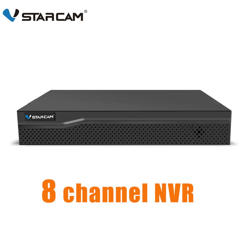 Vstarcam 8ch nvr entrada de áudio hdmi hd gravador vídeo rede para câmera ip n8209