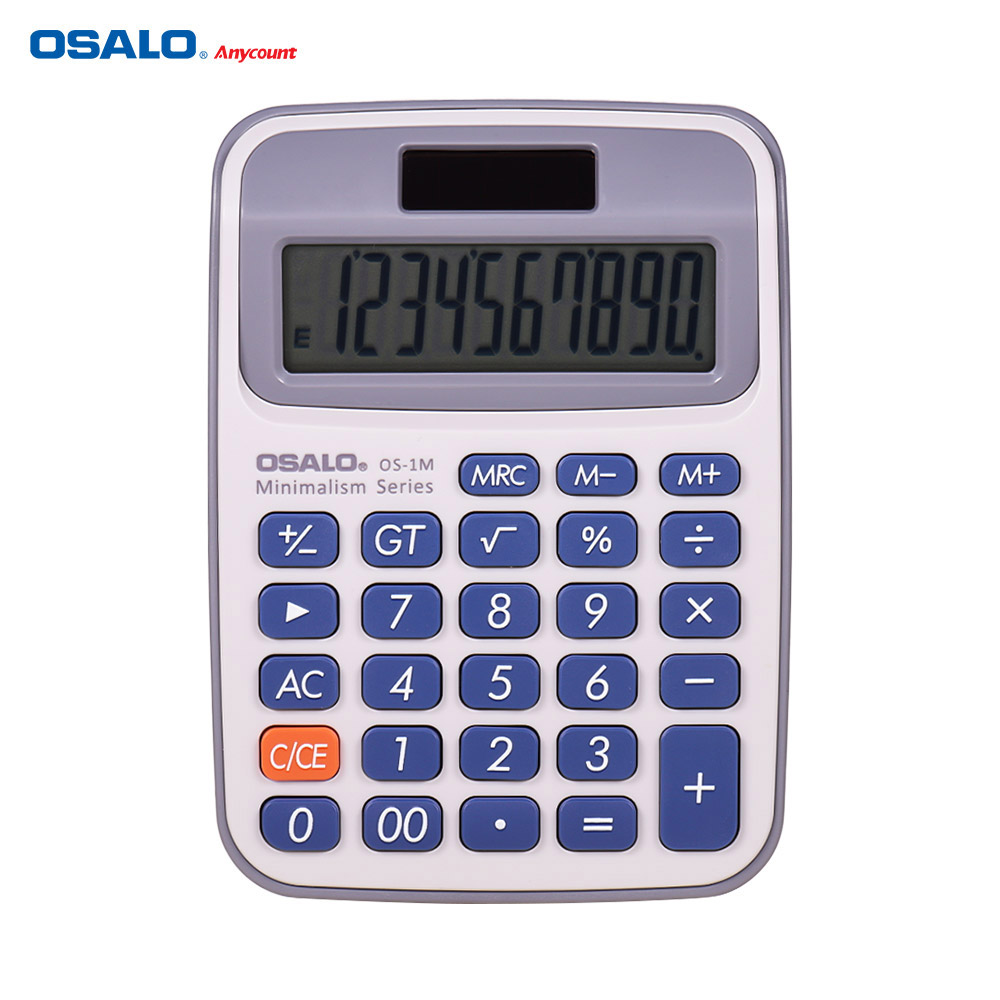 OSALO Portable Small Desktop Electronic Calculator Counter With 10-Digits Large LCD Display Dual Power Solar & Battery Powered