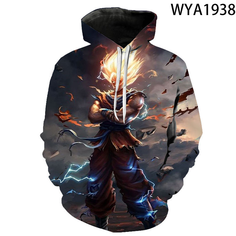 2020 Autumn winter styles dragon ball hoodie 3D sweatshirt men Print Turtle Goku poleron hombre Streetwear dragon ball pullover
