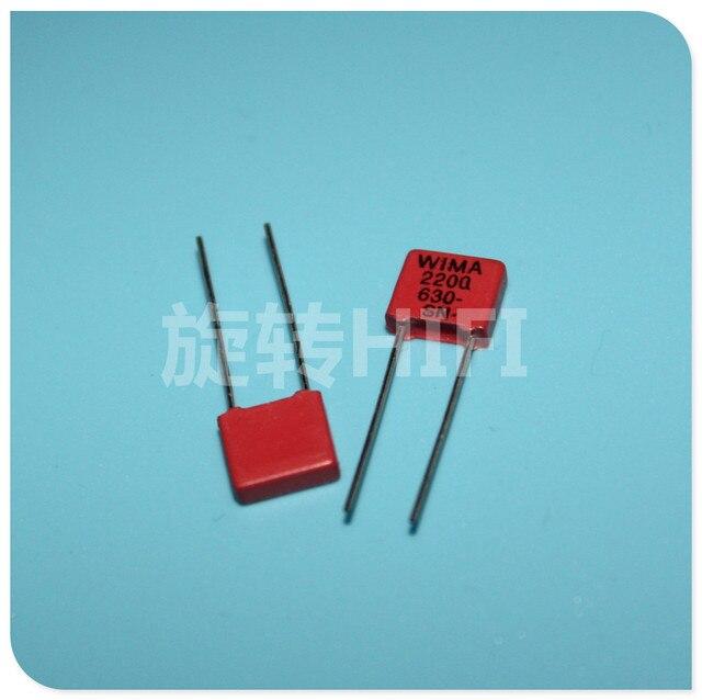 20 قطعة جديد الأحمر WIMA MKP2 2200PF 630V PCM5mm 630V2200pf MKP 2 2.2NF 2N2 222/630V 222 الصوت الساخن بيع