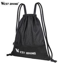WEST BIKING спортивная сумка на шнурке, рюкзак для тренажерного зала, фитнеса, велоспорта, складная баскетбольная сумка, сумка для путешествий, альпинизма, туризма, кемпинга