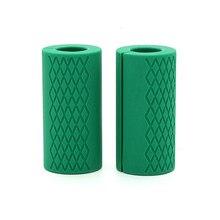 Haltere barbell apertos barra grossa alça de gordura puxar para cima de levantamento de peso silicone anti-deslizamento almofada protetora para a construção do corpo da aptidão