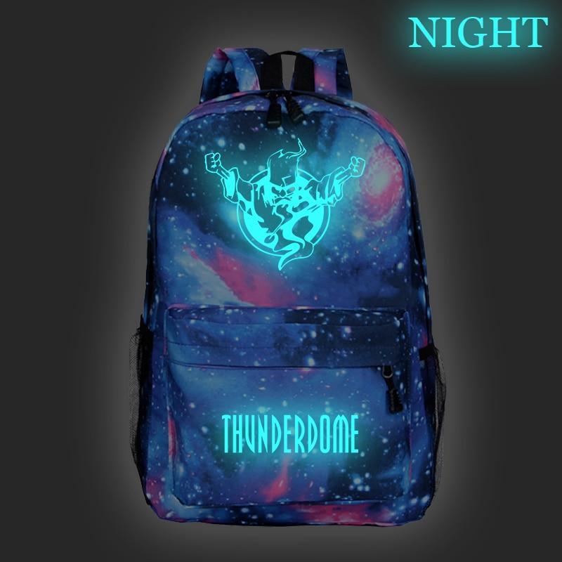 Thunderdome Luminous Star School Bag Student Backpack Girl Boy Toddler Bag Child Mochila Backpack