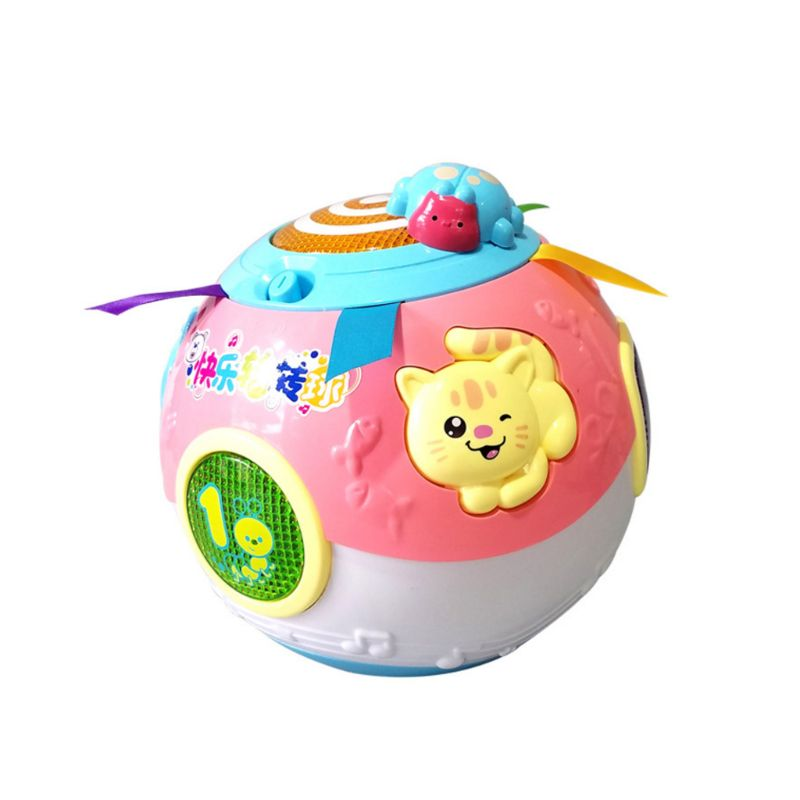 Baby Toddler Learning Crawl Rotating Ball Toy Educational Music Song Animal Gift