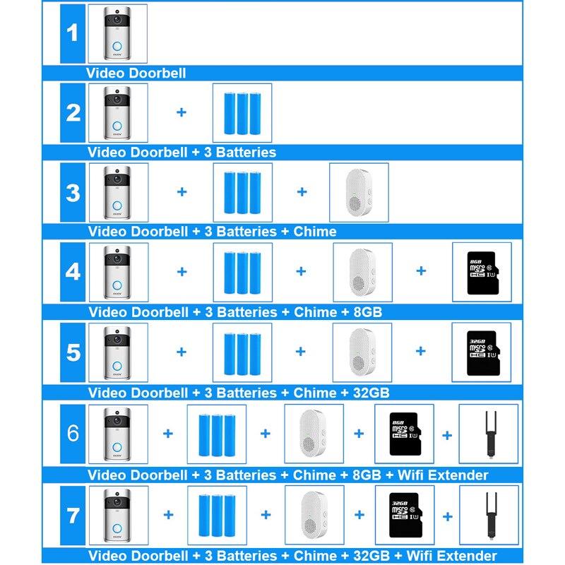 Demtom Wireless Wi-Fi SmartVideo Doorbell+Chime UK Plug