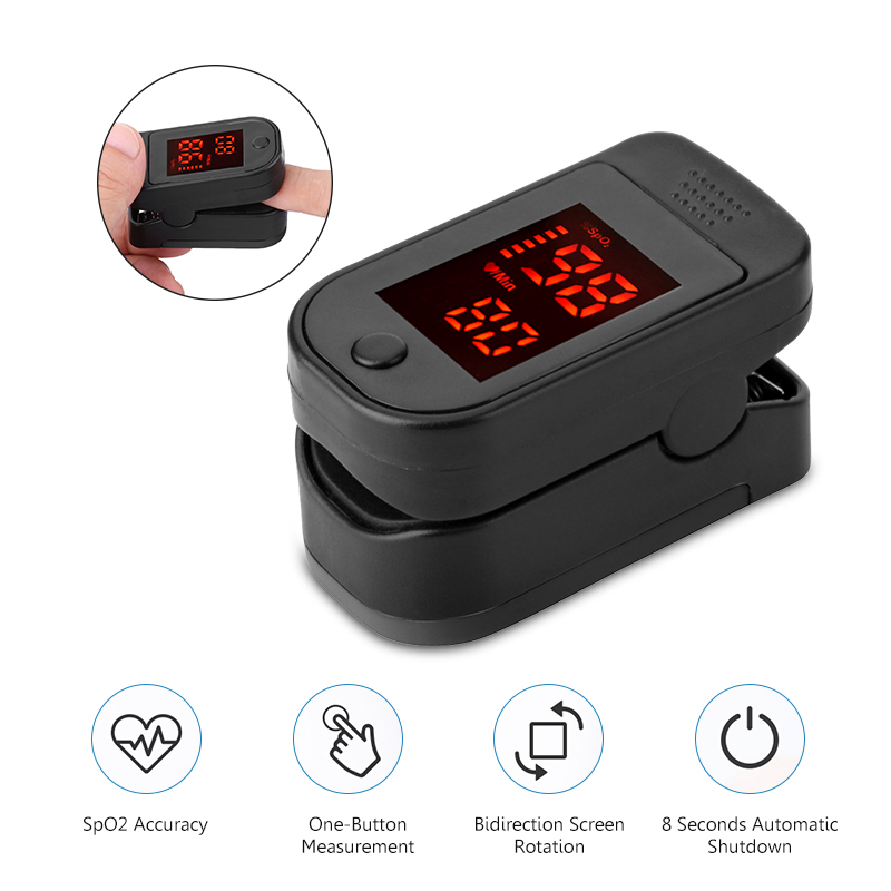 In Stock Portable Finger Pulse Oxygen Monitor Blood Oximeter Saturation Meter Fingertip Pulsoximeter Oximetro Dedo Oximeter