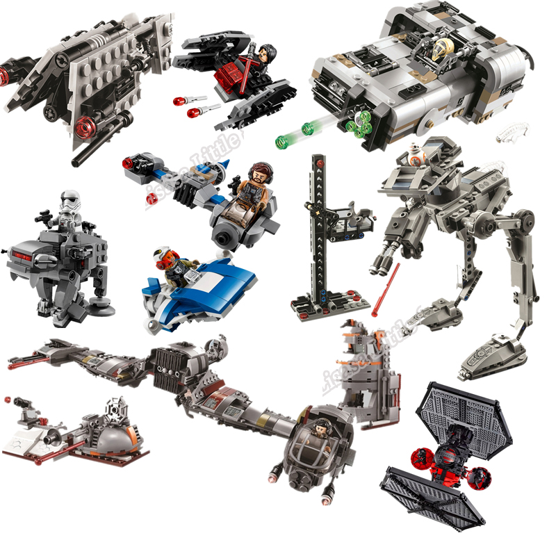 New Star Wars Tie Fighter Block Set Spaceship Model Starwars Legoinglys Building Brick Toy For Kids With Manual No Box