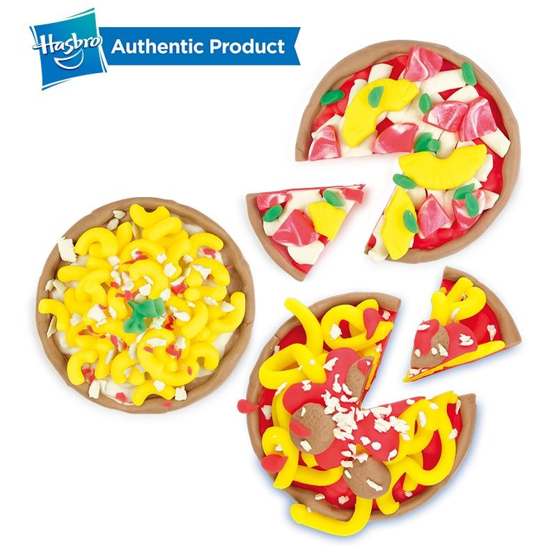 Juguete para horno de Pizza con sello y sello de Hasbro Play-Doh con 5 colores no tóxicos, creaciones de cocina, arcilla compuesta para niños, juegos divertidos - 5