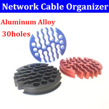Router Organizer Network-Cabinet-Machine Cable Comb Aluminum-Alloy for Category 30holes