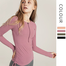 Yoga Top Fitness Gym Top Women Long Sleeve Yoga Shirts Workout  Gym Tops Fitness Clothes  Running Sports Jacket Tops hy seven women running shirts mesh yoga jackets breathable running shirt patchwork yoga top fitness sportswear gym sports jacket